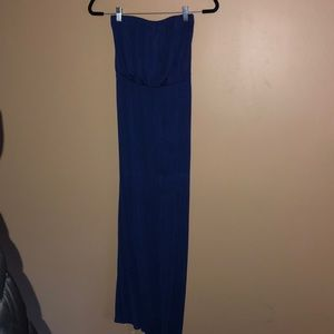 Woman's Strapless Maxi Dress
